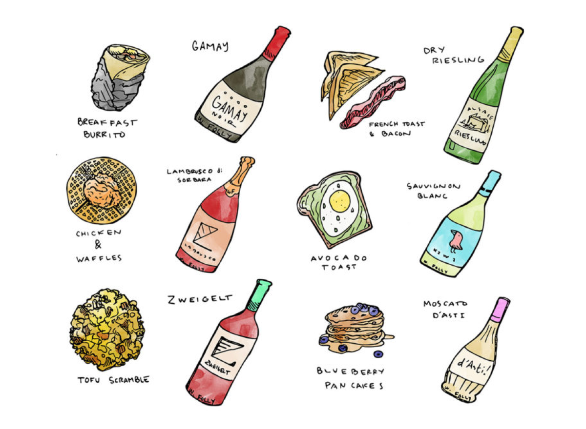 Stylish Wines for Breakfasts